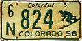 1958 Colorado license plate 6 N 824.jpg