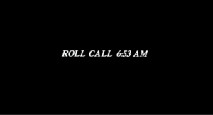 Hill Street Station - Opening seconds of the episode indicating the time of the roll call