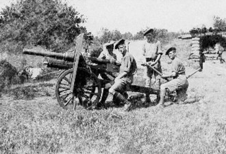 BL 2.75-inch mountain gun - Image: 2.75inch Mountain Gun Kamberli Salonika Front June 1918