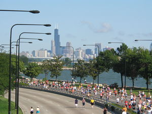 English: Chicago Half Marathon from 51st stree...