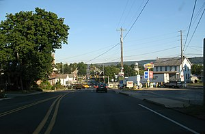 Blue Ball, Pennsylvania - Along US 322 approaching PA 23