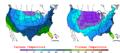 2008-01-19 Color Max-min Temperature Map NOAA.png