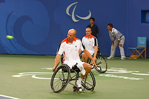 Wheelchair tennis at the 2008 Summer Paralympics – Men's Doubles - Maikel Scheffers and Ronald Vink of the Netherlands took the fourth place.