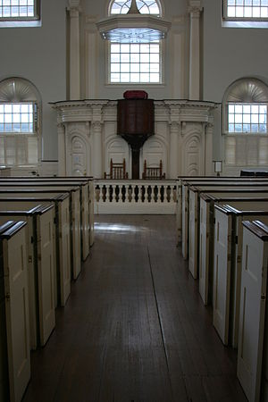 Old South Meeting House - Interior of Old South, 2010