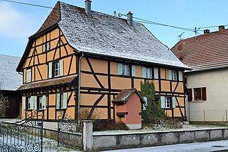 Balschwiller - A half-timbered house in Balschwiller