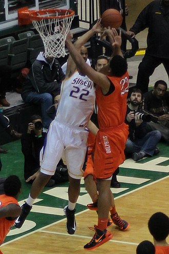 Double team - Image: 20130126 White Okafor doubleteam leads to Okafor block of Parker at Simeon Whitney Young game (4)