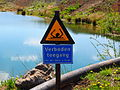 20130505 Grensmaasproject at Itteren 02 No swimming warning sign.JPG