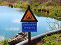 20130505 Grensmaasproject at Itteren 02 No swimming warning sign.JPG