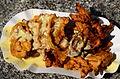 2013 Sechseläuten - Pakora aus Kichererben und Kartoffeln mit Joghurt-Curry-Sauce - Limmatquai 2013-04-15 13-27-00.JPG