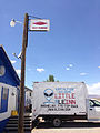 2014-07-18 13 16 39 Alien spaceship reserved parking at the Little A'Le'Inn restaurant, bar and motel along Nevada State Route 375 in Rachel, Nevada.JPG