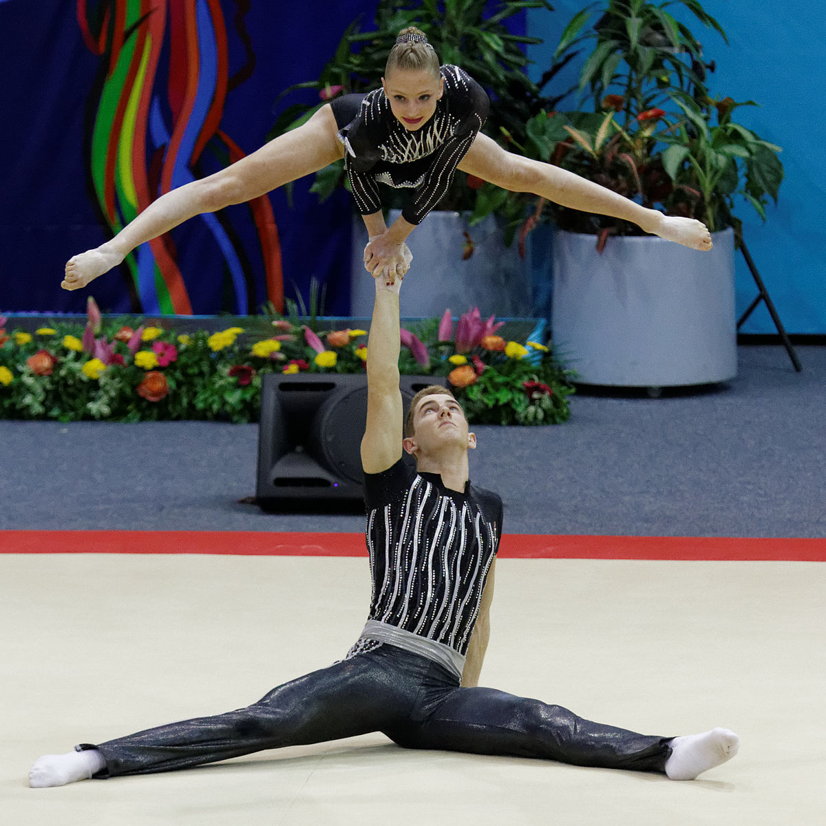 Camille Curti - Wikipedia Acrobatic Gymnastics Mixed Pair