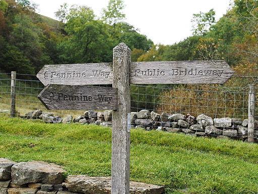 2014 Pennine Way sign Keld