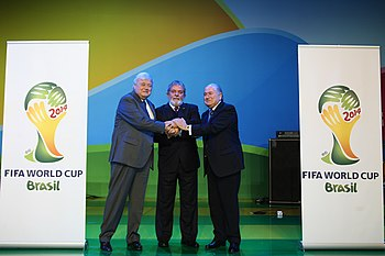 The 2014 FIFA World Cup logo is announced in J...