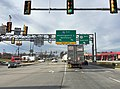 2015-12-14 11 19 59 View east along the non-freeway portion of Interstate 70 and west along U.S. Route 30 in Breezewood, Pennsylvania.jpg