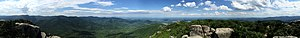 Old Rag Mountain - Image: 2017 06 21 15 55 26 Full 360 degree panoramic view from the summit of Old Rag Mountain within Shenandoah National Park, in Madison County, Virginia