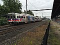 2017-09-06 11 00 40 A SEPTA train departing the West Trenton station in Ewing Township, Mercer County, New Jersey.jpg