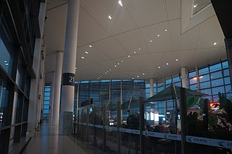 Nanjing Lukou International Airport, NKG 201712 End of a Concourse of NKG T2.jpg