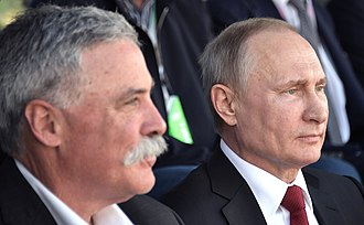 Chase Carey - Chase Carey and Vladimir Putin at the 2017 Russian Grand Prix