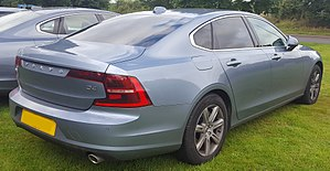 Volvo S90 - Image: 2017 Volvo S90 Momentum D4 Automatic 2.0 Rear