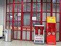 2018-09-14 (407) Magazine rack and manure bucket at Bahnhof Pöchlarn, Austria.jpg