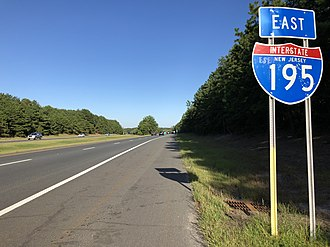 Jackson Township, New Jersey - Eastbound I-195 in Jackson Township