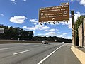 2018-10-24 12 54 47 View west along Virginia State Route 267 (Dulles Toll Road) at Exit 15 (Wolf Trap National Park for the Performing Arts, The Barns at Wolf Trap, Center for Education at Wolf Trap) in Wolf Trap, Fairfax County, Virginia.jpg
