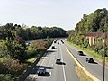 2018-10-25 12 12 09 View west along the westbound lanes of Interstate 66 (Custis Memorial Parkway) and the Orange and Silver lines of the Washington Metro from the overpass for George Mason Drive in Arlington County, Virginia.jpg