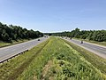2019-06-24 10 42 53 View south along Interstate 95 and U.S. Route 17 from the overpass for Virginia State Route 620 (Harrison Road) in Fourmile Fork, Spotsylvania County, Virginia.jpg