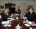 230805 Secretary of Defense Donald H. Rumsfeld (left) meets with Kazakhstans Minister of Foreign Affairs Kasymzhomart Tokayev 800x640.jpg