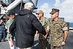 26th MEU, USS Kearsarge welcome aboard President Trump, First Lady 171003-M-GQ832-079.jpg