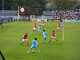 Hong Kong First Division League - A 2006–07 football match between South China and Rangers in Mong Kok Stadium.