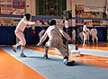 2nd Leonidas Pirgos Fencing Tournament. Baker scores a foot touch.jpg