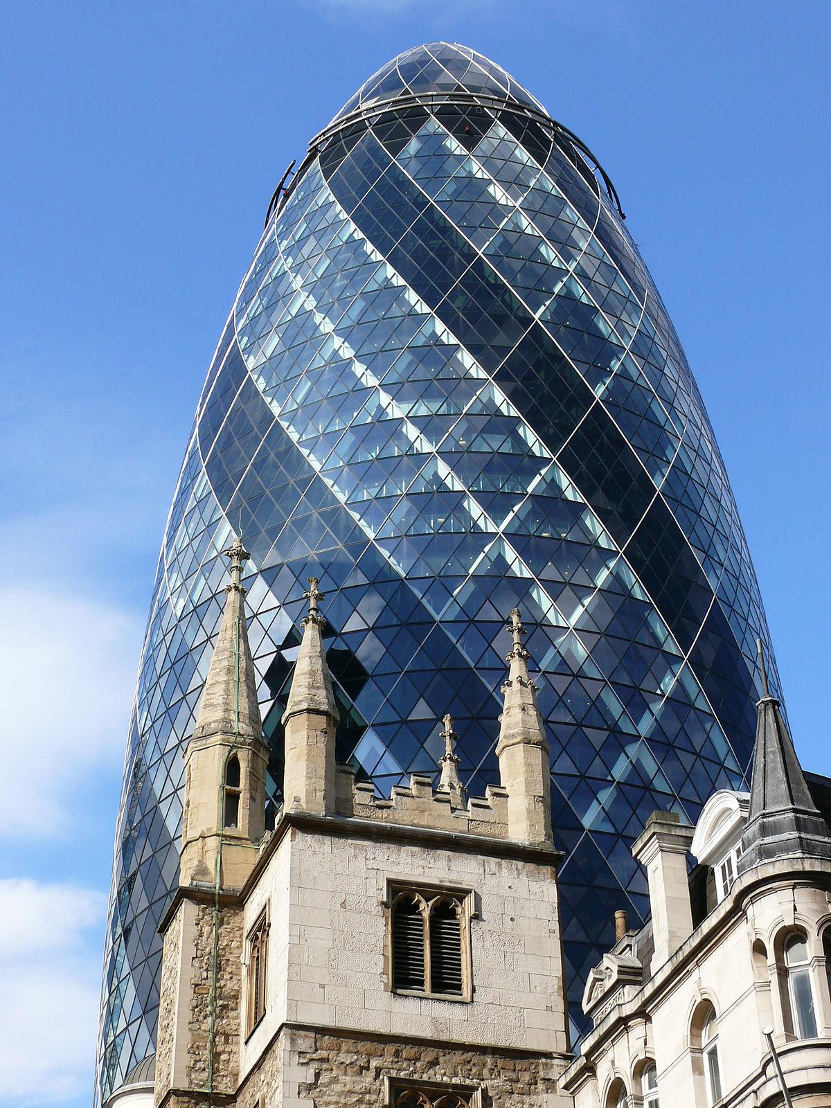 Gherkin Building London Restaurant