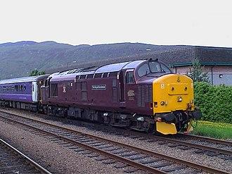 British Rail Class 37 - EWS maroon 37401 at Fort William