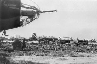 RAF Boreham - B-26 Marauders of the 394th Bomb Group at still-unfinished Boreham Airfield, 14 March 1944.