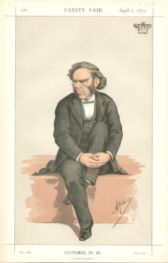 George Lyttelton, 4th Baron Lyttelton - Lord Lyttelton by Carlo Pellegrini, 1871