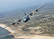 403d WG C-130 over coastal Georgia