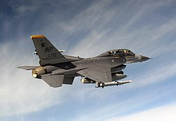 80th Fighter Squadron F-16D in training exercise