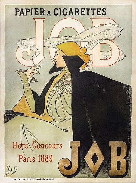 File:81 - Affiche pour le papier à cigarette JOB - Jane Atché, 1896 - Musée du Pays rabastinois - inv.D.2012.27.1.jpg