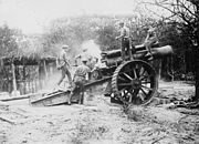 8 inch howitzer in action September 1916 LAC 3194238