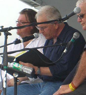 Michael Palmer (poet) - Palmer (center) at the 2009 Brooklyn Book Festival