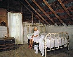 90-year old Kate Carter in North Carolina log cabin.jpg