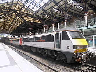 British Rail Class 90 - Abellio Greater Anglia Class 90 90012 at London Liverpool Street.