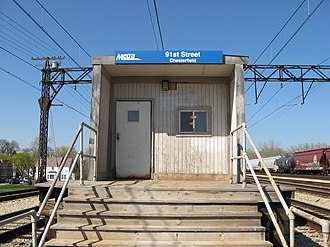 91st Street (Chesterfield) station - Image: 91st Street (Chesterfield) Metra Station