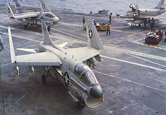 VFA-87 - Corsairs from VA-87 (background) and VA-25 (foreground) on USS Ticonderoga in 1969