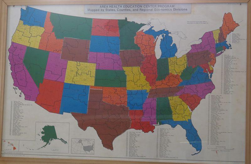 File:AHEC Program Map, 1969 by US Printing Office.jpg