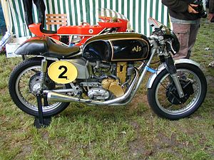 AJS 7R in road racing configuration