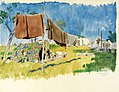 A Camp, Tincques- the 9th Divisional Train Art.IWMART3015.jpg