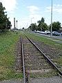 A Fehérvári úti vasúti kereszteződés felől a Győr rendező pályaudvar felé nézve, 2018 Győr.jpg