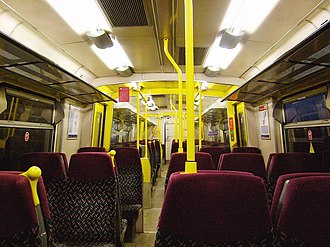 West Anglia Great Northern - Interior of a refurbished Class 313